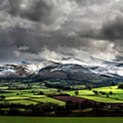 Pen Y Fan And Brecon Beacons Panorama Art Print