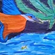 Philippine Kingfisher Painting Contest 1 Art Print