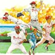 Phillies Through The Ages Art Print