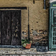 Phone Booth In Cyprus Art Print