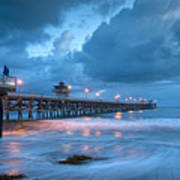 Pier In Blue Art Print by Gary Zuercher