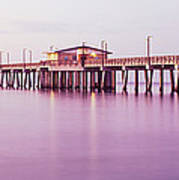 Pier In The Sea, Gulf State Park Pier Art Print