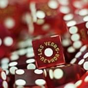 Pile Of Dice At A Casino, Las Vegas, Nevada Art Print
