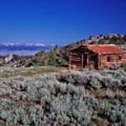 Pioneer Cabin Art Print