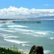 Pismo Beach Pier Panorama Art Print