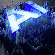 Pixel Artificial Intelligence Art Print