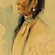 Plains Warrior Art Print