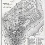 Plan Of The City Of New York Art Print