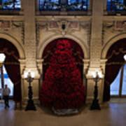 Poinsettia Christmas Tree The Breakers Art Print