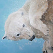 Polar Bear Ballet,  Detail Art Print