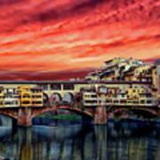 Ponte Vecchio Bridge Art Print