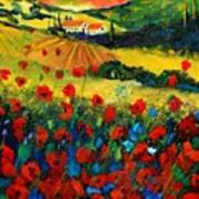 Poppies In Tuscany Art Print