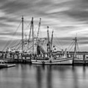 Port Royal Shrimp Boats Art Print