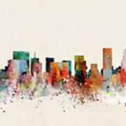 Portland Skyline Art Print