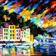 Portofino Harbor - Italy Art Print