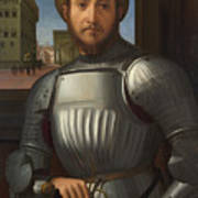 Portrait Of A Man In Armour Art Print