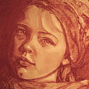 Portrait Of A Young Girl Art Print