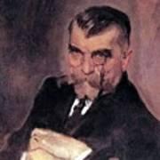 Portrait Of Aa Stahovich 1911 Valentin Serov Art Print