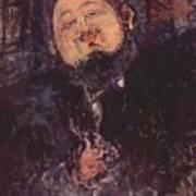 Portrait Of Diego Rivera 1914  Art Print