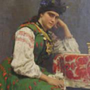 Portrait Of Sophia Dragomirova Art Print