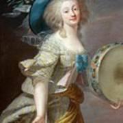 Portrait Une Danseuse Au Tambourin Lisabeth Louise Vige Le Brun Art Print