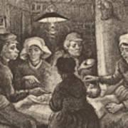 Potato Eaters, 1885 Art Print
