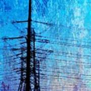 Power In Blue Art Print