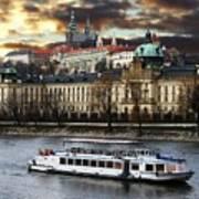 Prague By The Water Art Print