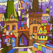 Prague Charles Bridge 01 Art Print