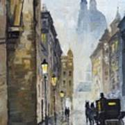 Prague Old Street 01 Art Print