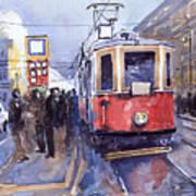 Prague Old Tram 03 Art Print