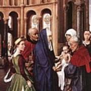 Presentation Of Christ Wga Rogier Van Der Weyden Art Print