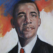 President Barack Obama Print by Synnove Pettersen