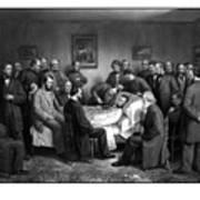 President Lincoln's Deathbed Art Print
