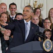 President Obama Honors Us Womens Soccer Team At White House #2 Art Print