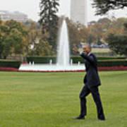 President Obama - White House South Lawn #1 Art Print