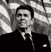President Ronald Reagan Speaking - 1982 Art Print