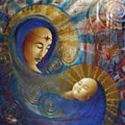 Primordial Mother Gives Birth To Solar Father Art Print