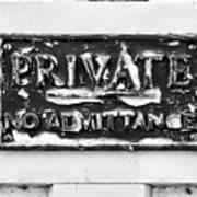 Private Sign Art Print