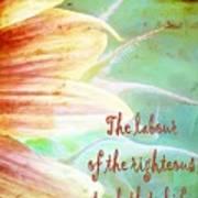 Proverbs 10 16 Art Print