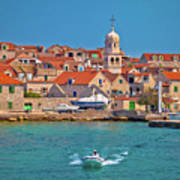 Prvic Sepurine Waterfront And Stone Architecture View Art Print
