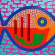 Psychedelic Fish Art Print by John  Nolan