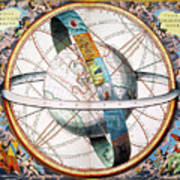 Ptolemaic Universe, 1660 Art Print