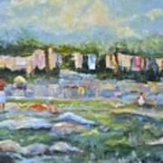 Public Laundry Mumbai Art Print