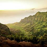 Puu O Kila Lookout, Kauai, Hi Art Print
