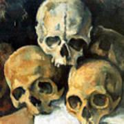 Pyramid Of Skulls Art Print
