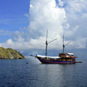 Silent Diving Bay On The Coast Of Sulawesi Art Print