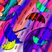 Rainy Day Love Art Print