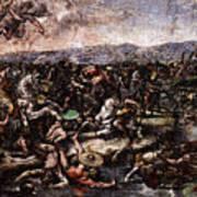 Raphael The Battle At Pons Milvius  Art Print