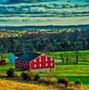 Red Barn - Pennsylvania Art Print